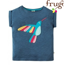 "frugi - Bio Kinder T-Shirt ""Sophia "" mit Kolibri-Motiv"
