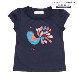 "Sense Organics - Bio Kinder T-Shirt ""Gada"" mit Pfau-Motiv"