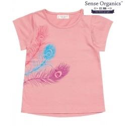 "Sense Organics - Bio Kinder T-Shirt ""Mahima"" mit Pfauenfedern"