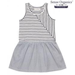 """Sense Organics - Bio Kinder Jersey Kleid """"Tanga"""" mit Streifen"""