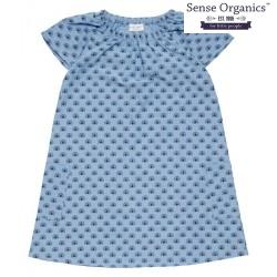 "Sense Organics - Bio Kinder Kleid ""Eliza"" mit Pfauen-Motiv"