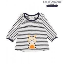 """Sense Organics - Bio Baby Langarmshirt """"Selly"""" mit Katzen-Motiv und Streifen"""