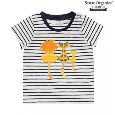 """Sense Organics - Bio Baby T-Shirt """"Liko"""" mit Tiger-Motiv und Streifen"""