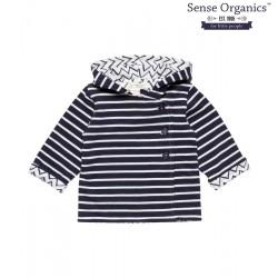 """Sense Organics - Bio Baby Wende Sweatjacke """"Aron"""" mit Streifen"""