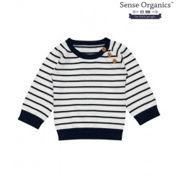 """Sense Organics - Bio Baby Strick Pullover """"Victor"""" mit Streifen"""