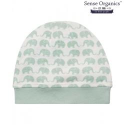 "Sense Organics - Bio Baby Mütze ""Yo"" mit Elefanten-Motiv, blau"