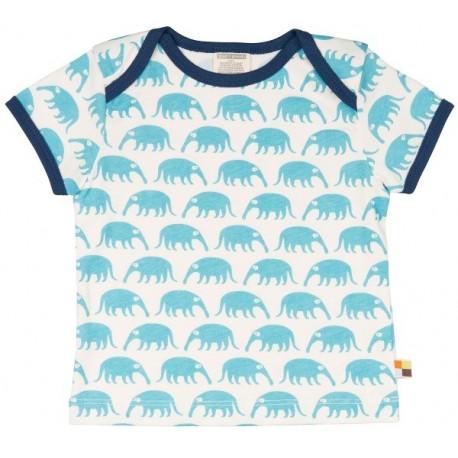 loud + proud - Bio Baby T-Shirt mit Ameisenbär-Druck