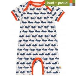 loud + proud - Bio Baby Spieler mit Ameisen-Druck