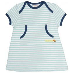 loud + proud - Bio Baby Sweat Kleid mit Streifen