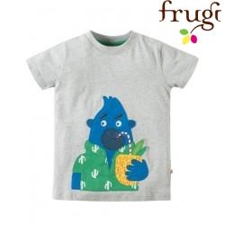 """frugi - Bio Kinder T-Shirt """"Stanley"""" mit Gorilla-Motiv"""