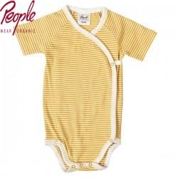 People Wear Organic - Bio Baby Wickelbody mit Streifen