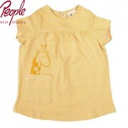 People Wear Organic - Bio Baby Kleid mit Streifen und Giraffen-Motiv