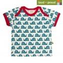 loud + proud - Bio Kinder T-Shirt mit Schnecken-Druck
