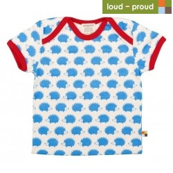 loud + proud - Bio Kinder T-Shirt mit Igel-Druck