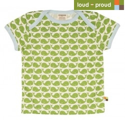 loud + proud - Bio Kinder T-Shirt mit Wal-Druck