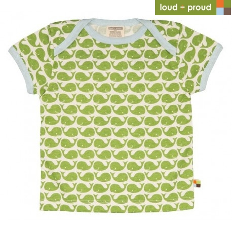 loud + proud - Bio Kinder T-Shirt mit Wal-Druck