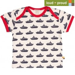 loud + proud - Bio Kinder T-Shirt mit Schiff-Druck