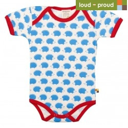 loud + proud - Bio Baby Body kurzarm mit Igel-Druck