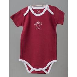 ORGANIC by Feldman - Bio Baby Body kurzarm mit Schutzengel-Motiv, rot