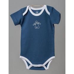 ORGANIC by Feldman - Bio Baby Body kurzarm mit Schutzengel-Motiv, blau