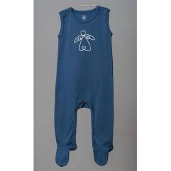ORGANIC by Feldman - Bio Baby Strampler kurzarm mit Schutzengel-Motiv, blau