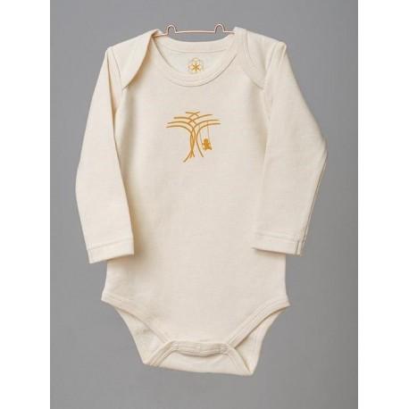 ORGANIC by Feldman - Bio Baby Body langarm mit Lebensfreude-Motiv