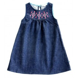 Enfant Terrible - Bio Kinder Jeanskleid mit Stickerei