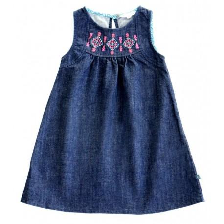 Enfant Terrible - Bio Kinder Jeanskleid mit Stickerei