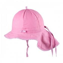 pure pure by BAUER - Bio Kinder Mütze mit Nackenschutz, UPF 30-35, melone