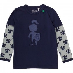 Fred`s World by Green Cotton - Bio Kinder Langarmshirt mit Ritter-Applikation