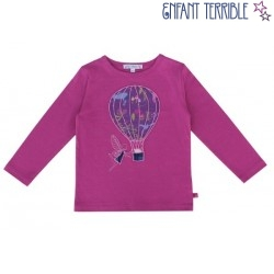 Enfant Terrible - Bio Kinder Langarmshirt mit Heißluftballon-Motiv