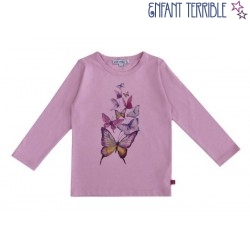 Enfant Terrible - Bio Kinder Langarmshirt mit Schmetterlings-Motiv