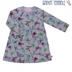 Enfant Terrible - Bio Kinder Sweatkleid mit Schmetterlingen-Motiv