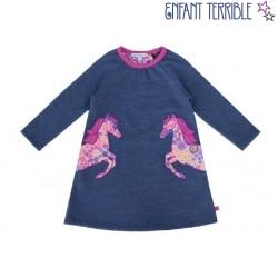 Enfant Terrible - Bio Kinder Sweatkleid mit Pferde-Motiv