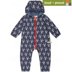 loud + proud - Bio Baby Overall mit Fuchs-Druck, wasserabweisend
