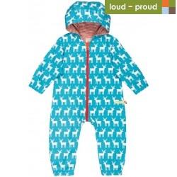 loud + proud - Bio Baby Overall mit Elch-Druck, wasserabweisend
