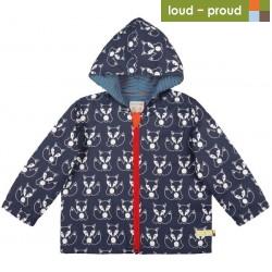 loud + proud - Bio Kinder Jacke mit Fuchs-Druck, wasserabweisend