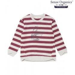 """Sense Organics - Bio Kinder Sweatshirt """"Juli"""" mit Schwan-Motiv und Streifen"""