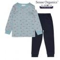 """Sense Organics - Bio Kinder Schlafanzug """"Long John Retro"""" mit Fuchs-Motiv"""