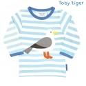 Toby tiger - Bio Baby Langarmshirt mit Möwen-Motiv und Streifen