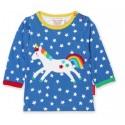 Toby tiger - Bio Baby Langarmshirt mit Einhorn-Motiv und Sternen