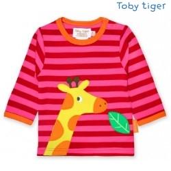 Toby tiger - Bio Baby Langarmshirt mit Giraffen-Motiv