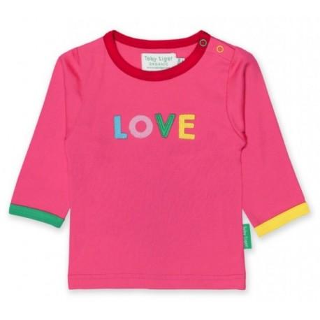 Toby tiger - Bio Baby Langarmshirt mit LOVE-Applikation