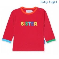Toby tiger - Bio Baby Langarmshirt mit SISTER-Applikation