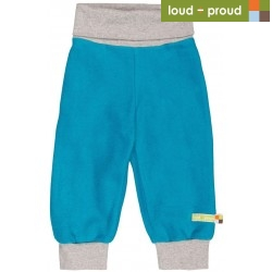 loud + proud - Bio Baby Fleece Hose, petrol