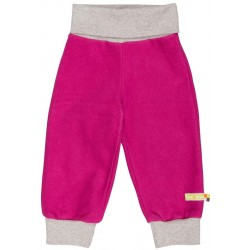 loud + proud - Bio Baby Fleece Hose, pink