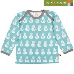 loud + proud - Bio Kinder Langarmshirt mit Schneemann-Druck