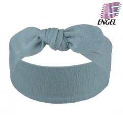 ENGEL - Bio Baby Stirnband zum Binden, Wolle, blau