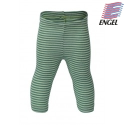 ENGEL - Bio Baby Leggings gestreift, Wolle/Seide, grün