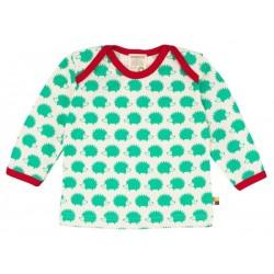 loud + proud - Bio Baby Langarmshirt mit Igel-Druck, grün